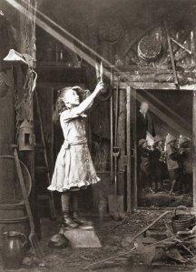Cutting a sunbeam, 1886