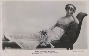 "Gertie Millar – Prudence ""The Quaker Girl"" (J. Beagles 634 C)"