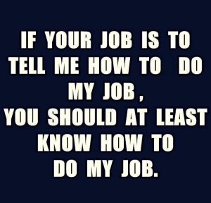 If your job.............