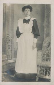 Glum maid
