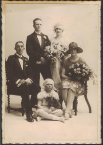 1920's wedding group