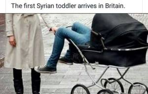 The first Syrian toddler arrives in Britain