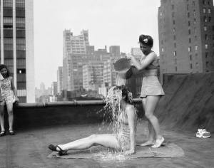The original Ice Bucket Challenge, NYC, 1943