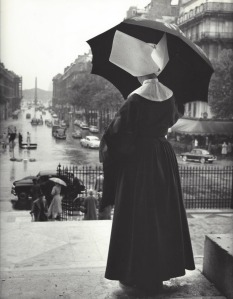 Nun,  Paris, 1950′s  by  Kees Scherer