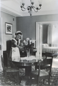 Maid at the new Hotel Ukrania - 1957
