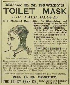 Toilet Mask - The Illustrated London News - 27th November 1897