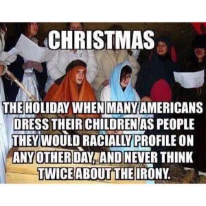 Nativity irony