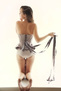 Corset and ribbons