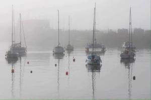 Morning mist in the harbour at Penzance