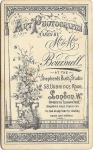 Mr and Mrs Boursnell Uxbridge road London c1890s.back