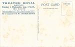 The Quaker Girl – Theatre Royal, Barnstaple – 17 – 18 Aug 1920(Back)