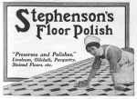 Stephen's Floor Polish – The Graphic – Saturday 16th February1918