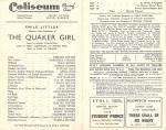 The Quaker Girl – Theatre Programme – 1944 –cast