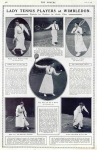 Lady Tennis Pllayers at Wimbledon – The Sphere – Saturday 27 June 1914