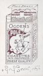 Lily Elsie – Ogden's Polo Brand – Cigarette card(back)