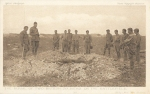 The Burial of two British Soldiers on the battlefield – Daily Mail Official War Photographs -Series 5 No35
