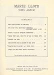 Feldman's Marie Lloyd SongAlbum – 1954(Contents)